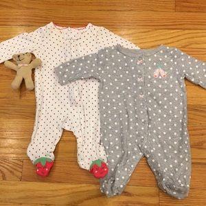 Carter's 3 Months Footsie Pajama Bundle